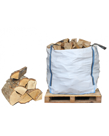 1m3 Bulk Bag of Kiln-Dried Hardwood Firewood