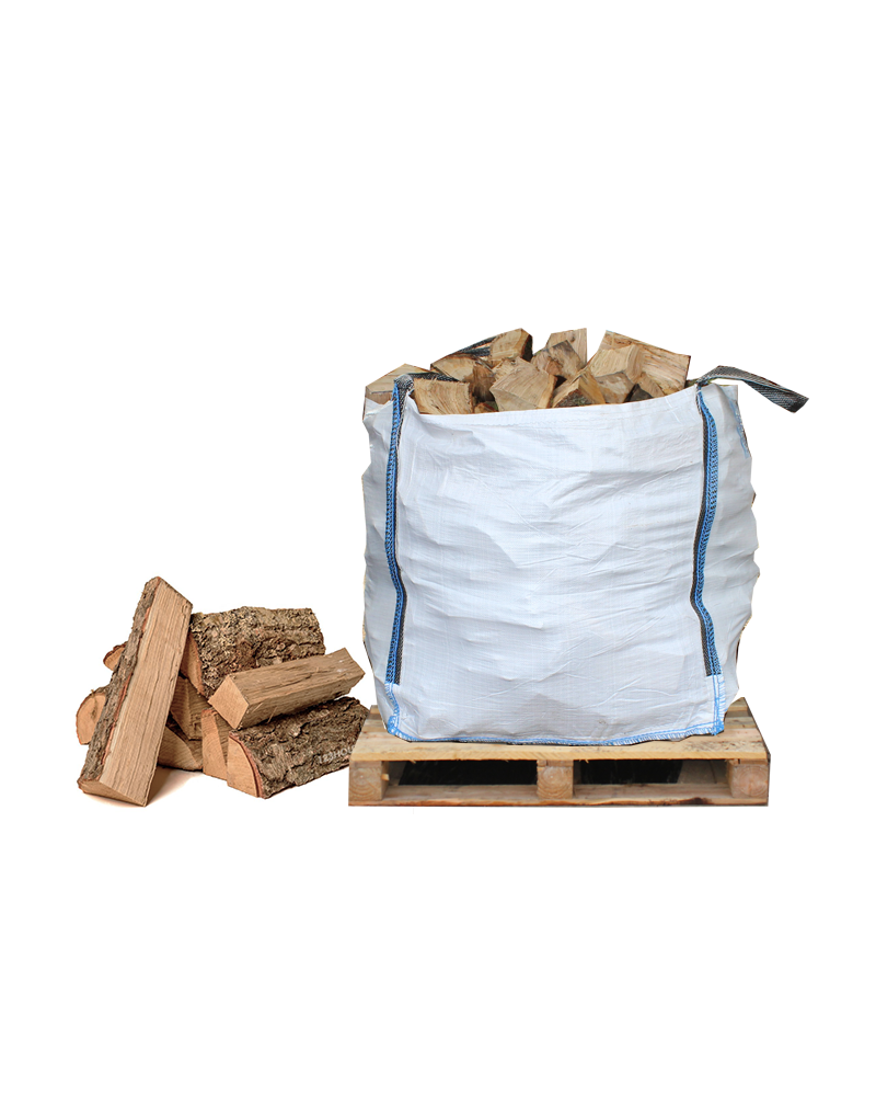 1m3 Bulk Bag of Seasoned Hardwood Firewood