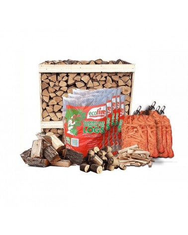 Premium Kiln-Dried Firewood Crate Package